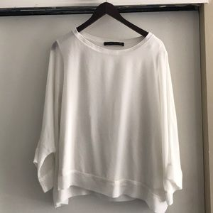 Zara white short sleeve top